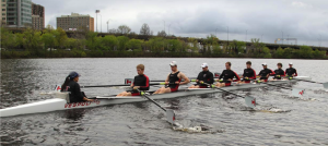 MIT Crew Team Demonstrating the Extraordinary Skill Required to Operate Android Wear Smartwatches by Row, Row, Rowing their way down the Charles River in Boston