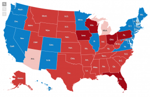 The final electoral map from the New York Times